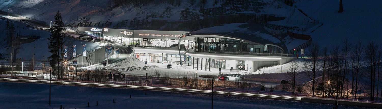 Steinbergbahn Talstation neben Apart Herzog