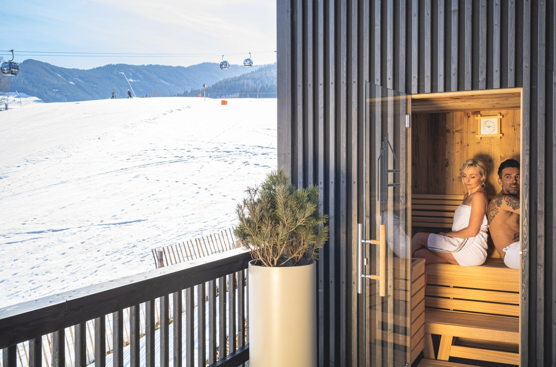 Ferienwohnung mit privater Sauna in Leogang