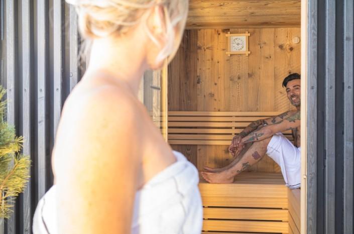 Apartment mit privater Sauna